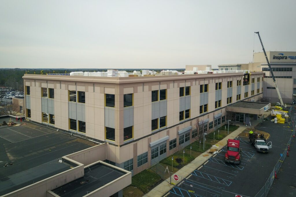 Inspira Medical Center in Vineland, New Jersey. Courtesy of Sto Panel Technology