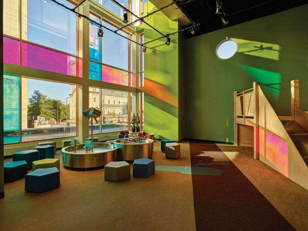 3M Dichroic Blaze used in the Minnesota Children's Museum – St. Paul, Minnesota. Courtesy of 3M Commercial Solutions Division