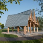 Canadian waterfront trail pavilion features RHEINZINK panels