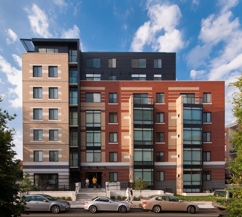 The Aston - Washington, D.C. 2017 Brick in Architecture Awards Best in Class Winner Residential-Multifamily Category. Brick Manufacturers: Triangle Brick Co. and Carolina Ceramics Co. Photo credit: Maxwell Mackenzie