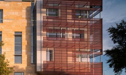 Perforated anodized aluminum ideally suited for Austin Central Library