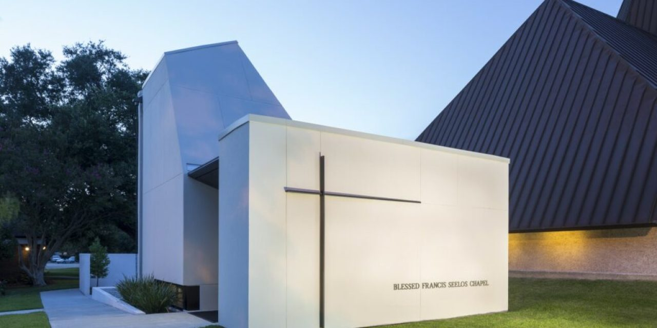 St. Pius Chapel and Prayer Garden in New Orleans designed by Eskew+Dumez+Ripple as sanctuary for quiet, individual prayer