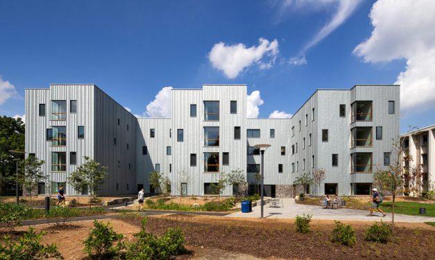 Dickinson College's new residence hall showcases zinc exterior with RHEINZINK façade cladding