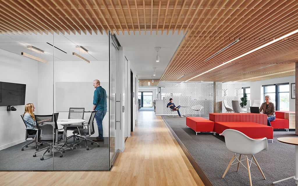 SAS' new office designed by  Perkins and Will opens on Austin's historic Sixth Street