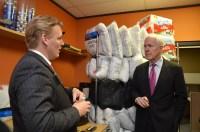 Jeremy Gregg, CDO for the Prison Entrepreneurship Program, giving a tour to U.S. Senator John Cornyn