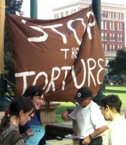 Banner: Stop the Torture
