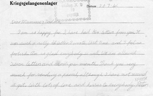 correspondance marin britannique 1941 Marlag stalag 10 B