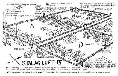 prisonniers de guerre carte stalag Luft IV