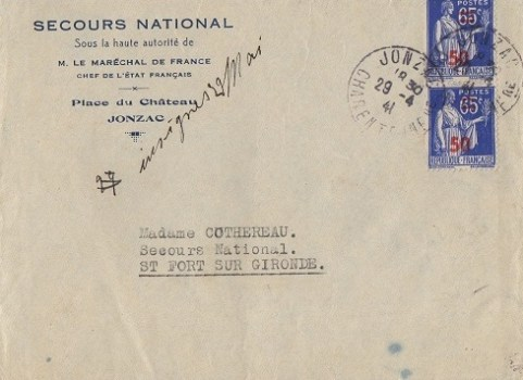 secours national section Gironde 1941