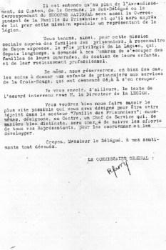 secours national commissariat général hôtel de la paix Royat 1942