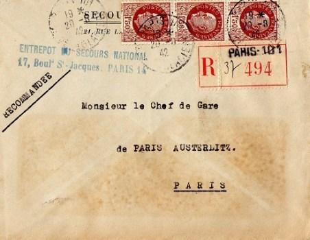 secours national entrepôt-de paris 1942