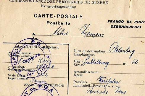 prisonnier de guerre allemand en France après 1945 1102 rennes