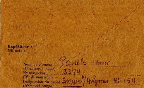 prisonnier de guerre allemand en France après 1945 Sorgues 154