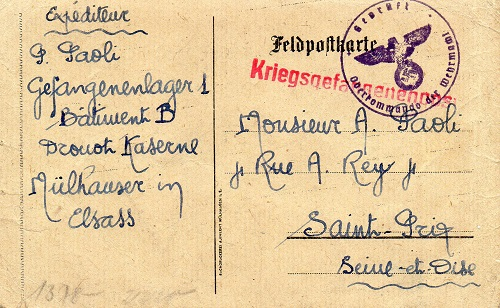 prisonniers de guerrecamp de prisonniers caserne Drouot Mulhouse
