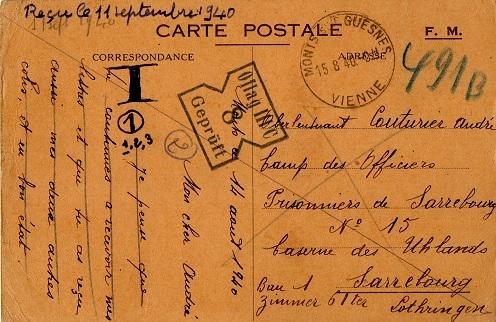 prisonniers de guerre français camp de prisonniers caserne des Ulhans Sarrebourg
