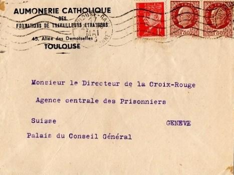 1943 aumonerie des travailleurs étrangers Toulouse