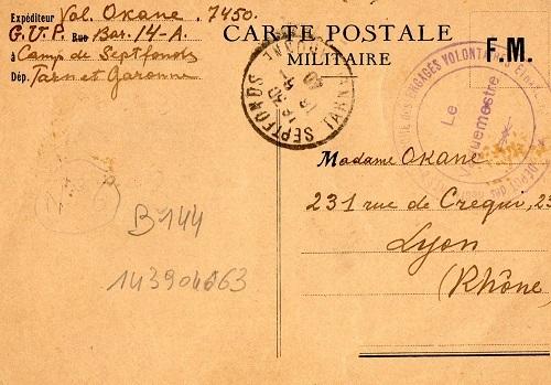 16 /6/ 1940 dépot des engagés volontaires espagnols camp de Spetfonds