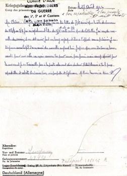 comité d'aide aux prisonniers de guerre section de nantes