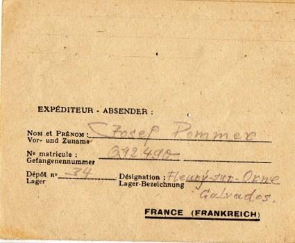 prisonnier de guerre allemand en France après 1945 Fleury sur orne 34