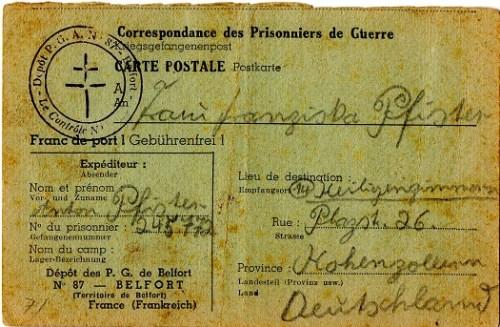 prisonnier de guerre allemand en France après 1945- Belfort 87