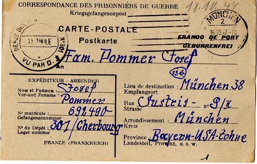 prisonnier de guerre allemand en France après 1945 Cherbourg 301
