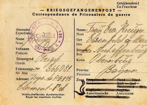 prisonnier de guerre allemand en France après 1945 Clermont ferrand 135
