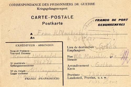 prisonnier de guerre allemand en France après 1945 lanpian/st Médard 183