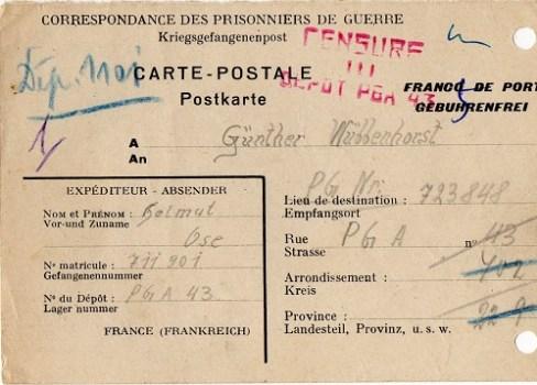 prisonnier de guerre allemand en France après 1945 Montoir de Brretagne 43