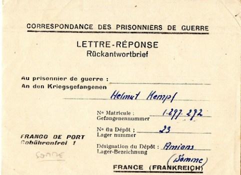 prisonnier de guerre allemand en France après 1945 Amiens 23