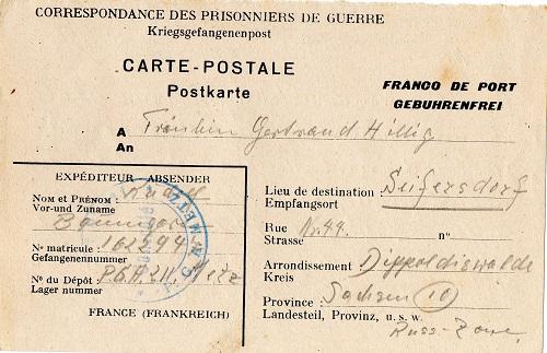 prisonnier de guerre allemand en France après 1945 Metz 211