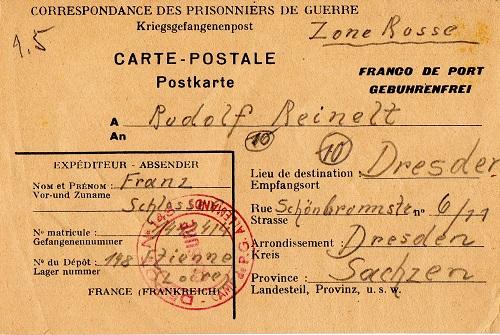 prisonnier de guerre allemand en France après 1945 St Étienne 148