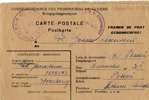 prisonnier de guerre allemand en France après 1945 Stasbourg 105