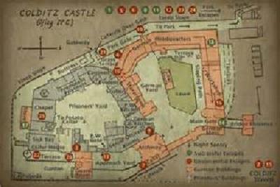 plan de la forteresse de Colditz