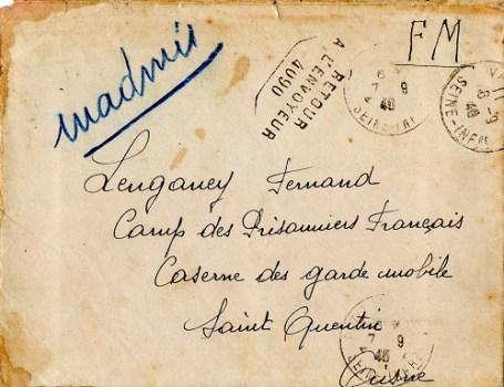 prisonniers de guerre caserne des gardes mobiles St Quentin