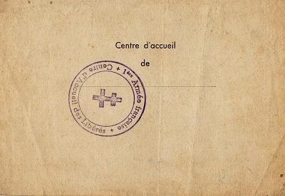 carte d'épouillage de prisonnier de guerre libéré mai 1945 stalag IV B