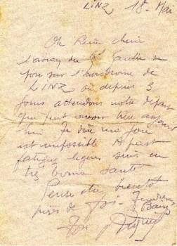 témoignage libération départ LINZ 18 mai 1945 arrivée de DE-GAULLE à l'aéroport