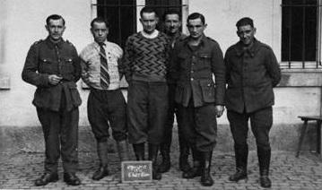 PRISONNIERS DE GUERRE STALAG IX B EQUIPE DU CHARBON