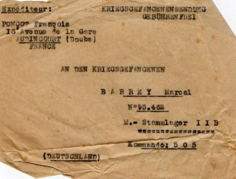 prisonniers de guerre étiquette de colis artisanale