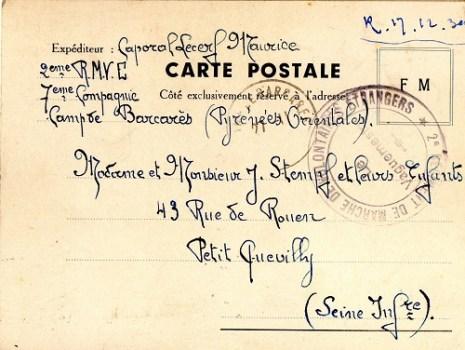 2e régiment de marche des volontaires espagnols camp de barcarès