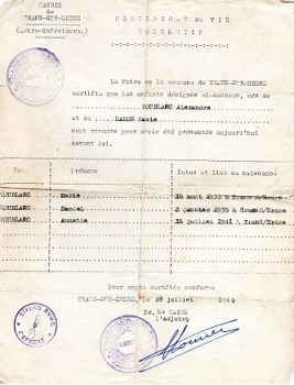 certificat de vie collective cachet stalag XVIII C