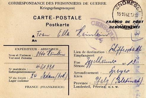 camp de prisonniers allemands n°24 sedan
