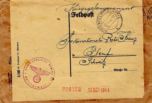 stalag n°383 lettre du camp