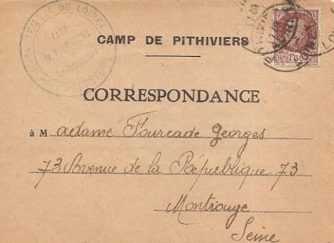 camp pour prisonniers civils CSS de Pithiviers