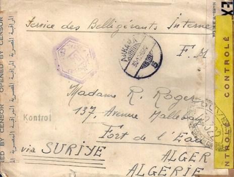 ANKARA DU 30-12-1942 L'UN DES 11 PILOTES DE CHASSE FRANCAIS INTERNES EN TURQUIE