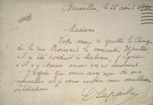 avis de capture soldat blessé en belgique