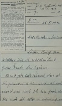 lettre de MAUTHAUSEN GUSEN avec directives du commandant de ce camp