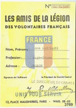 carte les amis de la légion paris