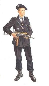 milicien en tenue