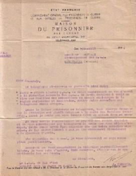 prisonniers de guerre maison du prisonnier 1944
