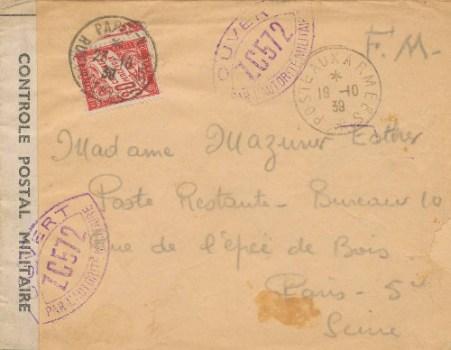 controle postal ZC 572